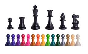 triple weighted regulation colored plastic chessmen house of