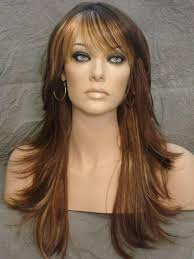 front flip hair long straight hair wigs soft flip style layered lace front wig