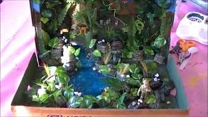 how to make rainforest in a shoebox project youtube