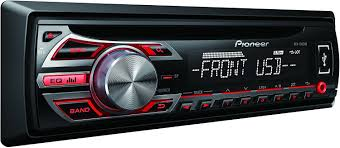 pioneer rds tuner with illuminated front usb and aux in black
