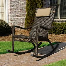 Outdoor Patio Rocking Chairs Shop Tortuga Outdoor Mahogany Wicker Patio Rocking Chair At Lowes Com