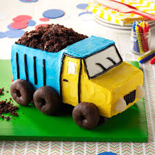 childrens monster truck videos cakes dump truck cake recipe taste of home