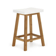 table et chaise b b tabouret blanc et naturel h60cm blanc naturel buluh tabourets