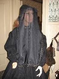 funeral veil pre 1918 rppc mourning dress both women wear hats embossed