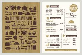 editable menu templates restaurant menu template free vector 14 260 free vector