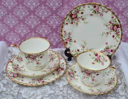 royal albert cottage garden pair of tea trios vintage bone china