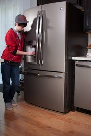 consumers go gray in a stylish way with ge slate kitchens ge the geiers in louisville ky