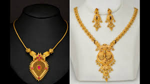 gold short chain necklace images Latest gold short necklace designs 22k gold necklace jpg