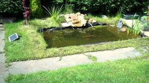 pond liner u0026 solar pump in action youtube