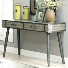 wood and metal console table with drawers wood metal console table made with in grey by worldwide home