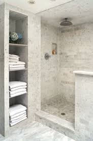 Shower Ideas For A Small Bathroom Gorgeous Tile In The Shower Love The Built In Shelving Unity For