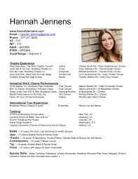 special skills for resume examples resume builder for dancers the best and impressive dance resume resume an article about creating a professional acting rsum by art lynchs pinterest list of special skills