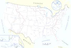 United States Map With Oceans by Travelblog Map Of United States The States Beautiful Map Usa