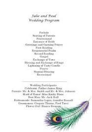 peacock wedding programs peacock wedding invitation kit print your own wedding invitations