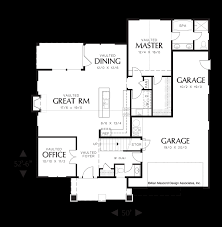 garage floor plans with living space mascord house plan 22143a the roland