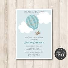 air balloon baby shower invitations by delightpaperie on etsy