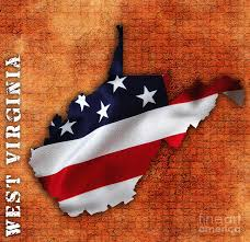 Map Of West Virginia State Map Of Usa by West Virginia American Flag State Map Mixed Media By Marvin Blaine