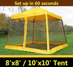8 u0027x8 u0027 10 u0027x10 u0027 pop up canopy party tent gazebo ez w net yellow