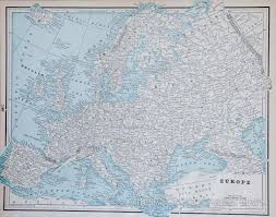 Chicago Columbian Exposition Map by Map Of Europe 1893