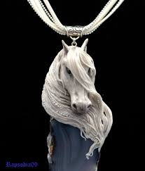 horse necklace pendants images Jewelry pendant pendant horse polymer clay horse necklace white jpg