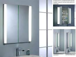 Lighted Bathroom Mirror Cabinets Cabinet Bathroom Mirror Juracka Intended For Lighted Bathroom