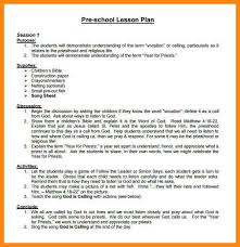 preschool lesson plan template bio examplepreschool lesson plan
