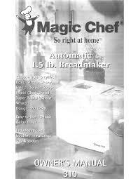 100 breadman ultimate bread machine magic chef model cbm310