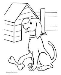 printable animal pages dog 092 coloring pages pinterest