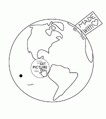 made with love earth day coloring page for kids coloring pages