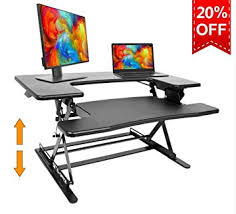 stand up desk multiple monitors amazon com standing desk preassembled height adjustable sit stand