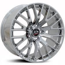 Mustang Black Chrome Wheels Fits Ford Replica Oem Factory Stock Wheels U0026 Rims