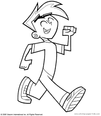 danny phantom color coloring pages kids cartoon