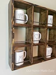Rae Dunn How To Build A Rae Dunn Mug Holder For Cheap Our Home Made Easy