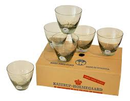 cocktail glass set holmegaard denmark cocktail glasses set of 6 chairish
