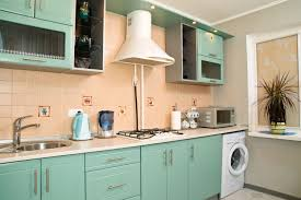 pastel green kitchen ideas wall mounted cabinets rustic range