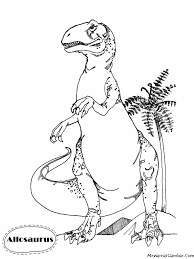 mewarnai gambar allosaurus coloring pages pinterest free