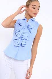 sleeveless ruffle blouse sleeveless ruffle shirt samarra