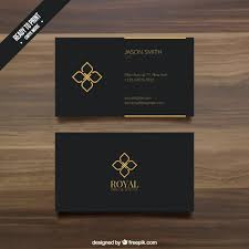 Free Business Card Templates For Word 2010 Black Business Card Template Vector Premium Download