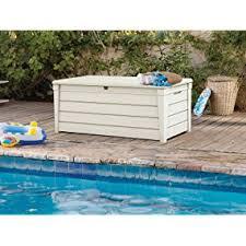amazon com keter brightwood 120 gallon outdoor garden resin