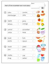 Countable And Uncountable Worksheet For Grade 2 Worksheet 3 Countable Uncountable Nouns A Put The Nouns Into