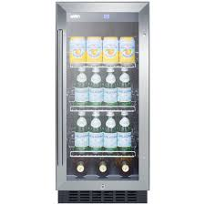 under cabinet beverage refrigerator summit scr1536bg beverage refrigerator black stainless steel