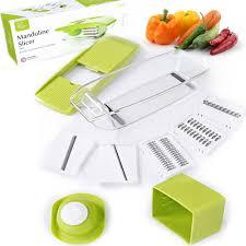 Hi Tech Cutting Board Amazon Com Mandoline Slicer Adjustable Vegetable Cutter Grater