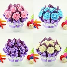 flower pot favors 40pcs 4 sets creative flower pot candy boxes wedding favor