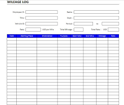 mileage report template 30 printable mileage log templates free template lab