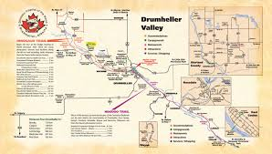 Map Alberta Canada by Drumheller Valley Tourist Map Drumheller Alberta U2022 Mappery