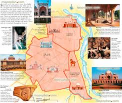 World Map Poster India by Delhi Maps Top Tourist Attractions Free Printable City Street