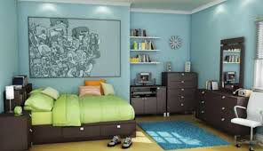 Colorful Bedrooms Bedding Set Colorful Bedroom Interior For 3d Render Boys