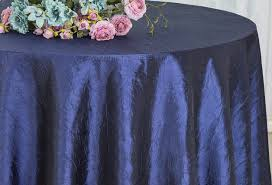 navy blue table linens 120 navy blue crushed crinkle taffeta tablecloths