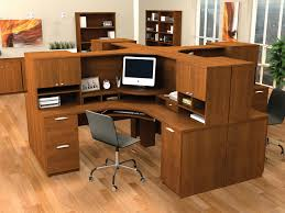 Corner Office Desk With Hutch by Curved Office Desk Office