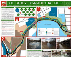 Buffalo State College Map by Julian Montague Projects Site Study Scajaquada Creek